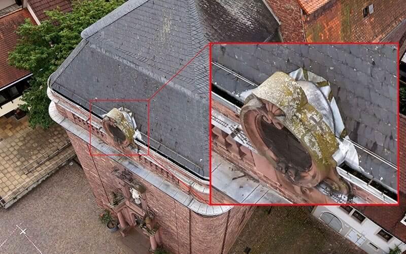 Inspektionen mit einer Drohne - Hochbau
