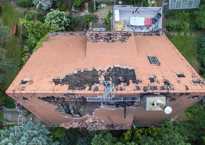 Inspektionen mit einer Drohne - Sturmschaden