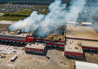 Inspektionen mit einer Drohne - Brandschaden